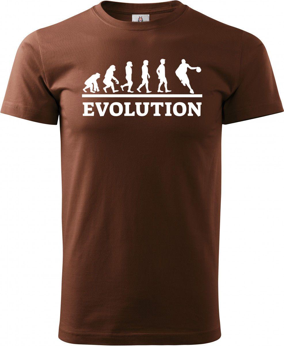 Evolution basket, bílý tisk