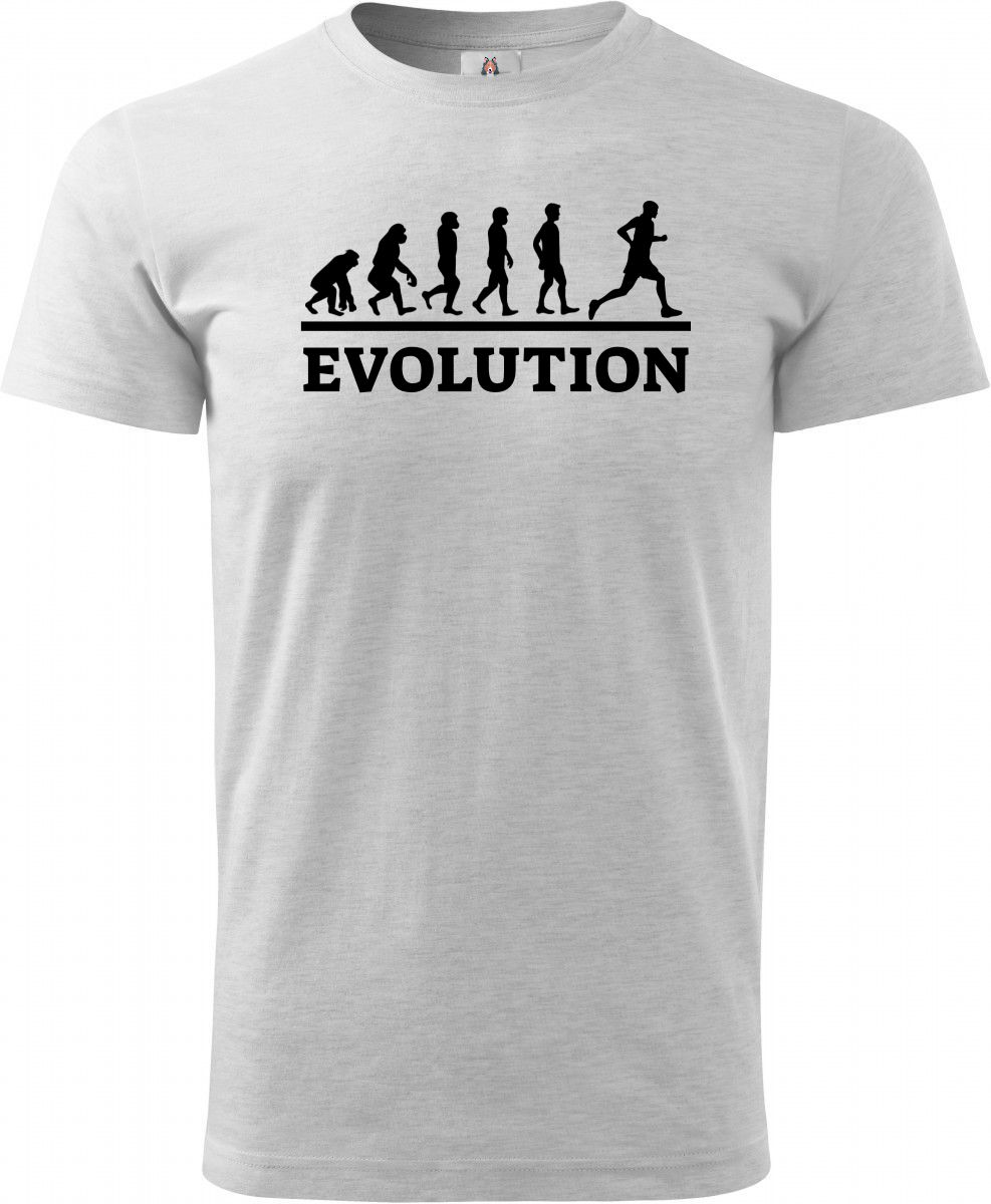 Evolution běh, černý tisk