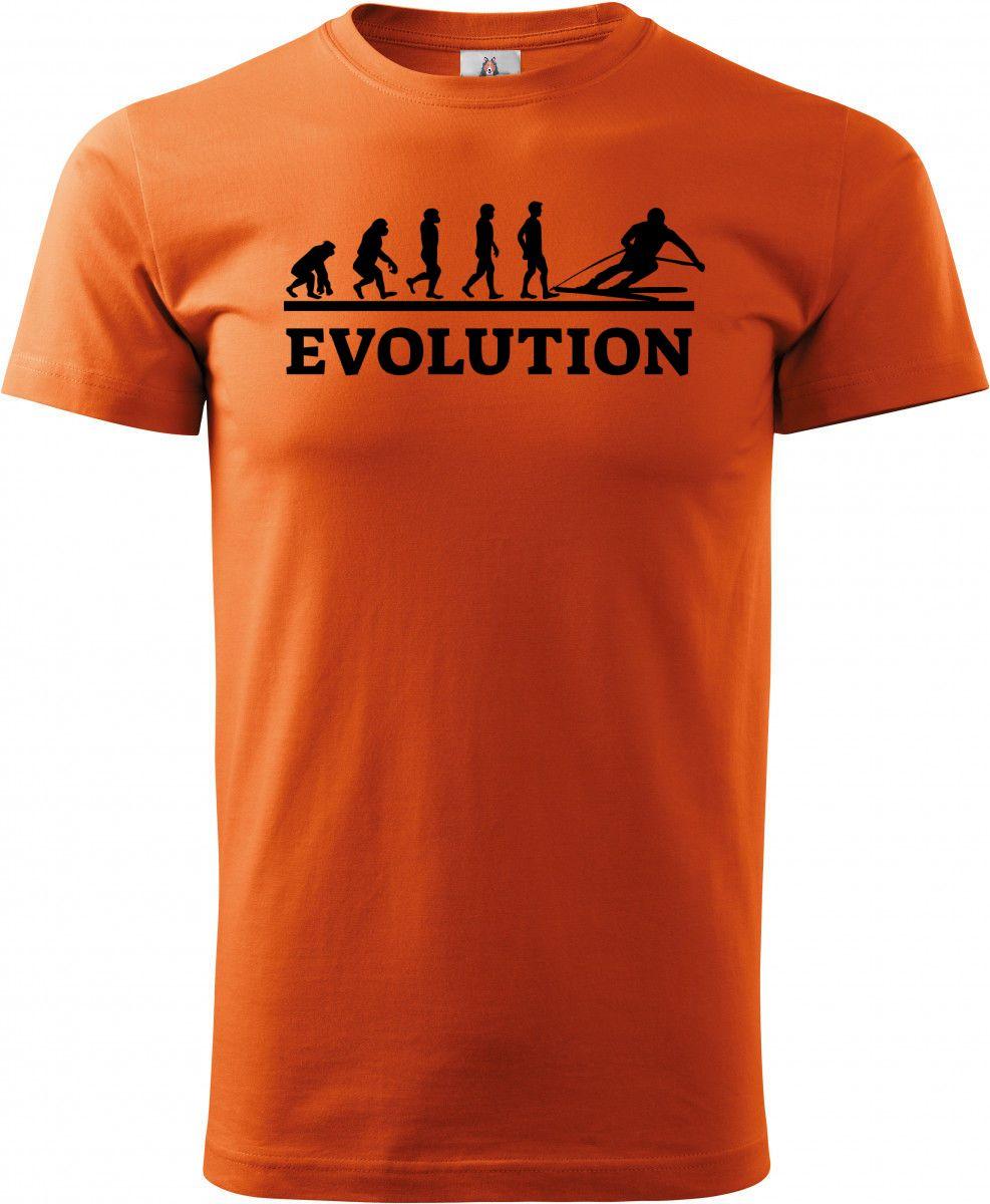 Evolution lyžování, černý tisk