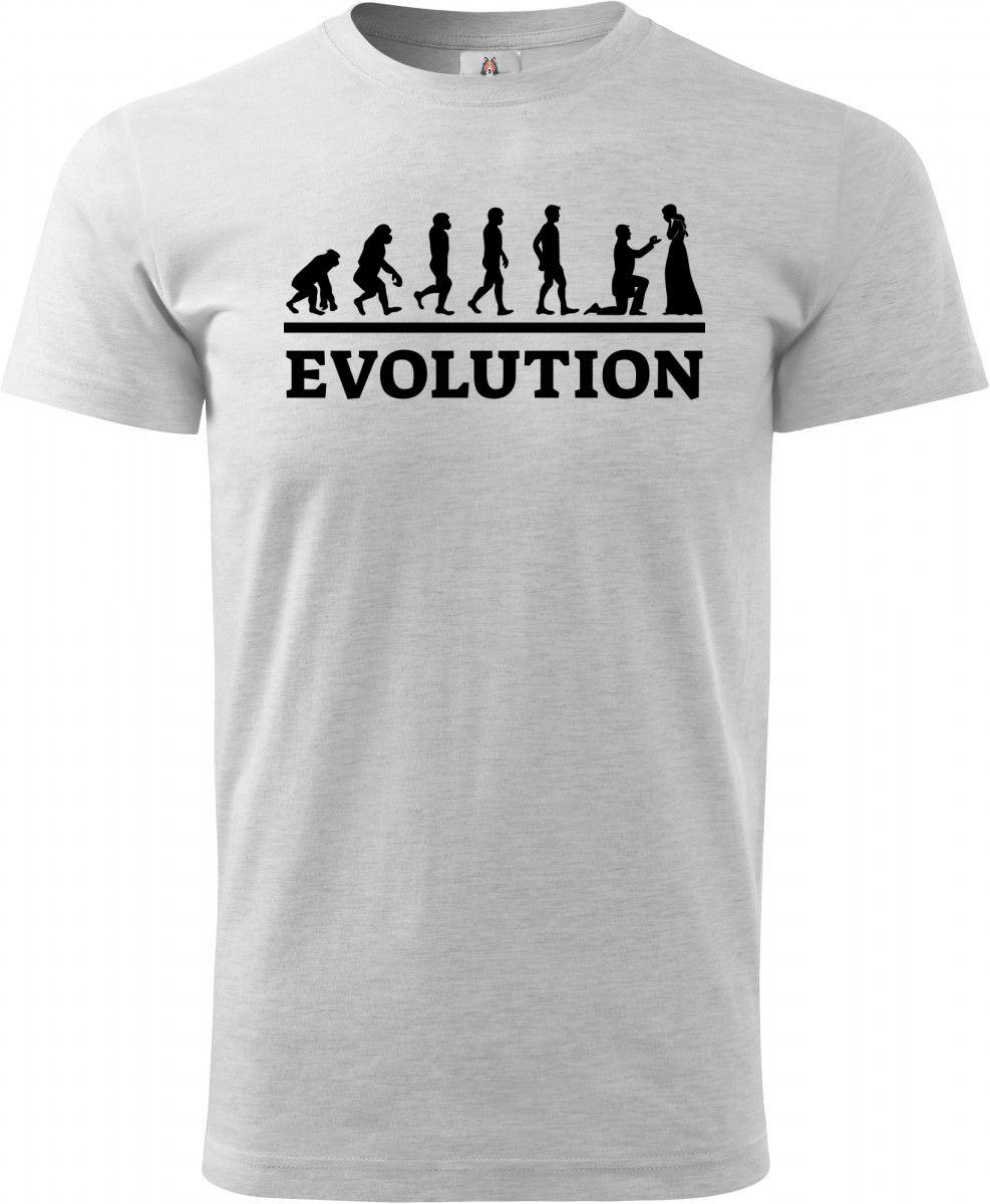 Evolution svatba, černý tisk