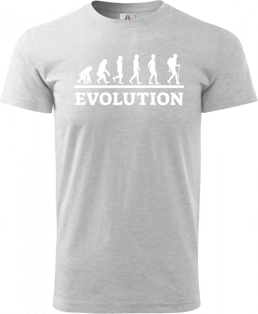 Evolution trekking a hiking, bílý tisk