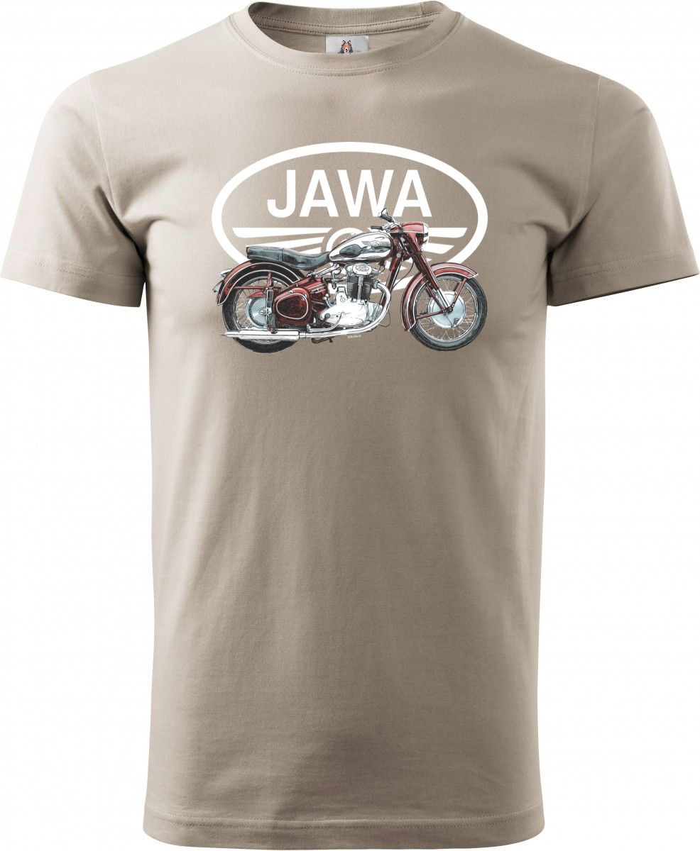 Jawa 500 OHC, bílé logo, v4