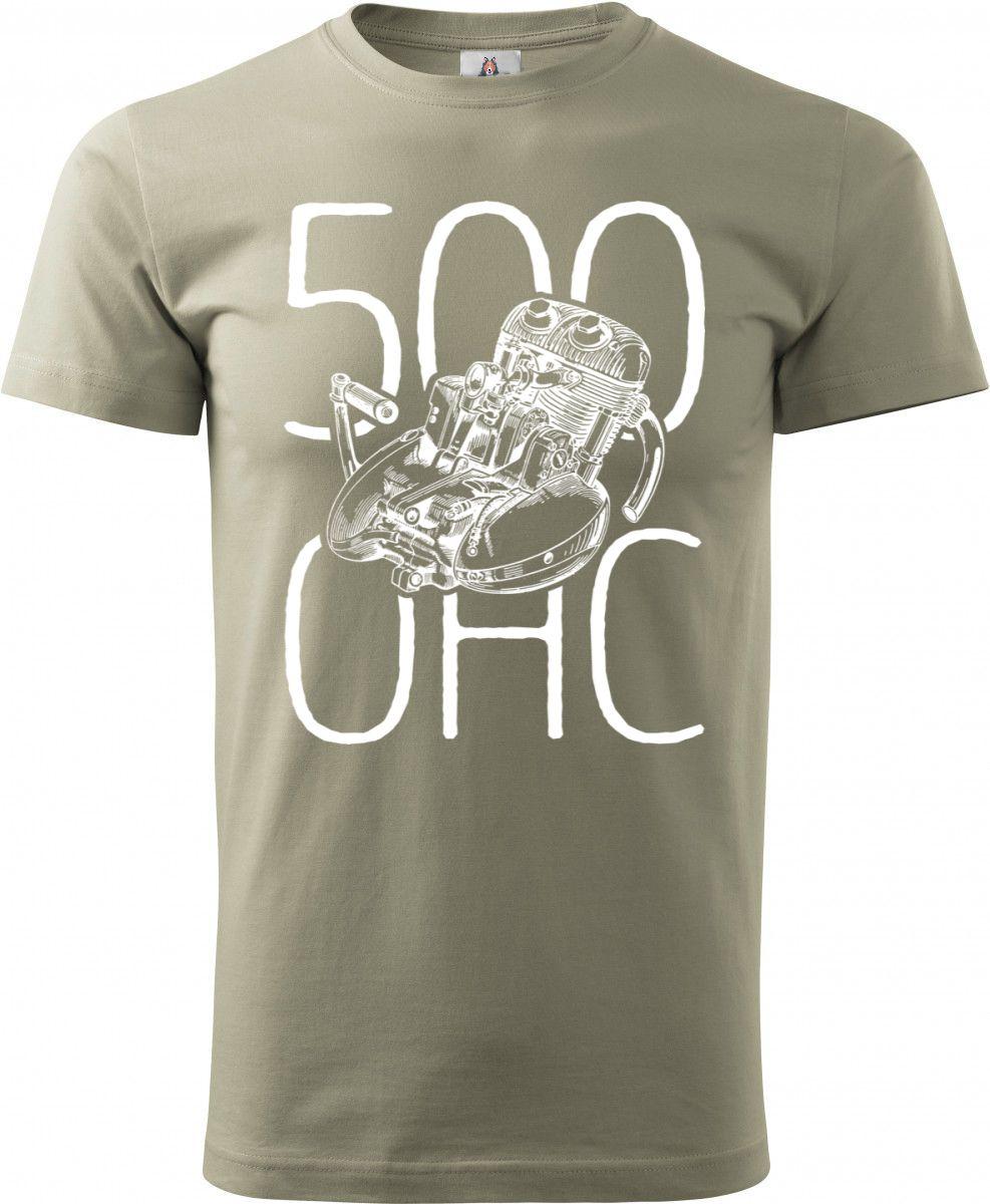 Jawa 500 OHC, MOTOR bílý + text, v15