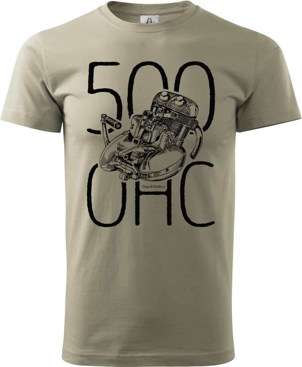 Jawa 500 OHC, MOTOR černý + text, v14