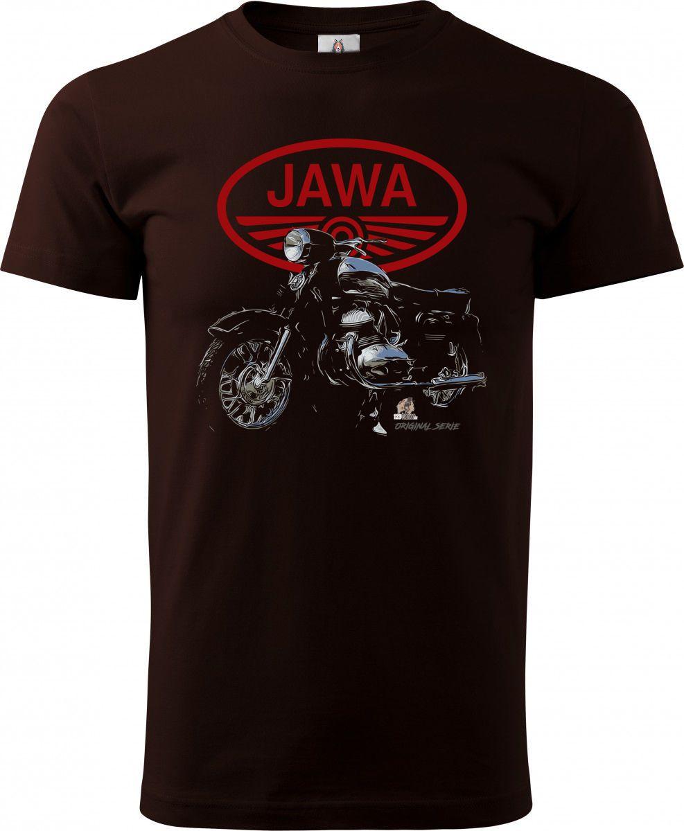 Tričko Jawa – červené logo