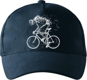 Cyklista, kostra, bílá