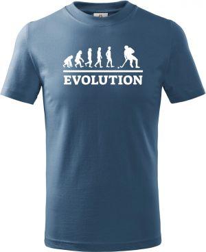 Evolution florbal, bílý tisk