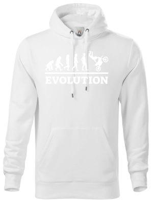 Evolution motocross, bílý tisk