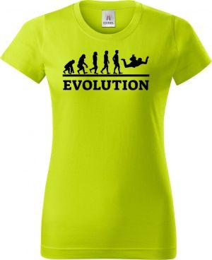 Evolution parašutismus, černý tisk