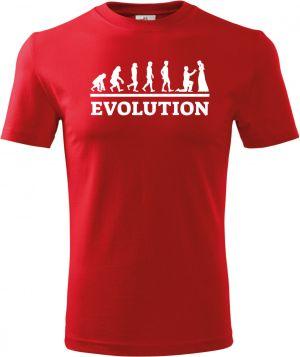 Evolution svatba, bílý tisk