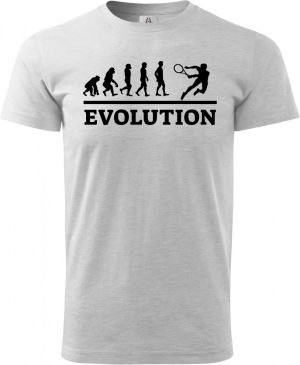 Evolution tenis, černý tisk
