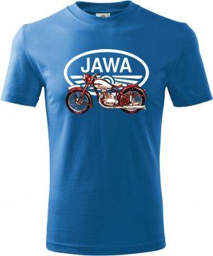 """Jawa 250/350 """"Pérák"""", bílé logo V8."""