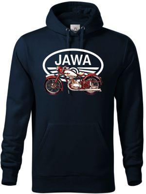 """Jawa 250/350 """"Pérák"""", bílé logo V8. Tričko, mikina"""