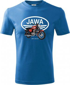 """Jawa 350/634 """"Konopnice"""", bílé logo. Retro"""