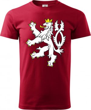 Tričko s ČESKÝM LVEM, barevný
