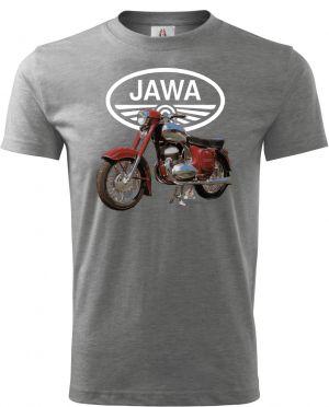 Tričko Jawa – bílé logo