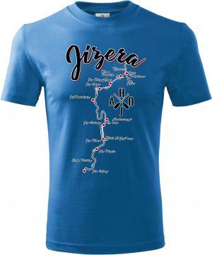 Tričko Jizera, mapa