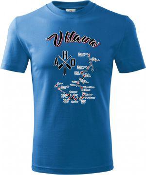 Tričko Vltava, mapa
