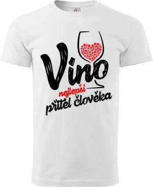 Víno, nejlepší přítel člověka - černý potisk