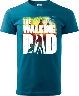 Walking DAD, bílý potisk + barevný
